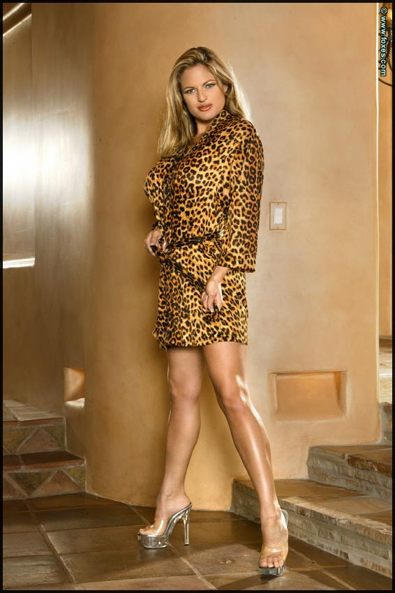 ... - the curvy blonde strips out of leopard print jacket and thong: www.babemansion.com/rs/dillon-mcneil/31s.html